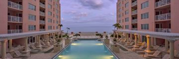 Hyatt Regency Clearwater Beach, Pool and Resort at Dusk
