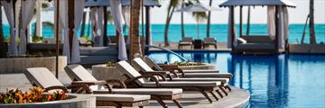 Pool loungers at Hyatt Ziva Cap Cana