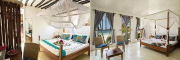 Guesthouse Bedroom and Bungalow Bedroom at Indigo Beach Zanzibar