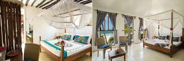 Guesthouse Bedroom and Bungalow Bedroom at Indigo Beach Zanzibar