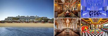 Jumeriah Zabeel Saray: Hotel exterior and beach, Lalezar Restaurant, Voda Evening Bar, Sinbad Kids Club, Imperium Restaurant