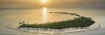 Aerial view of JW Marriott Maldives Resort & Spa