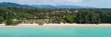 Aerial view of Kantary Beach Khao Lak