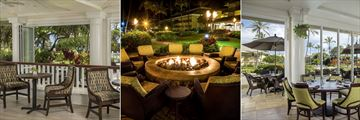 Shutters Lounge, Beach Fire Pit and Naupaka Terrace at Kauai Beach Resort