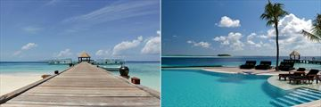 Komandoo Island Resort & Spa, Jetty and Infinity Pool