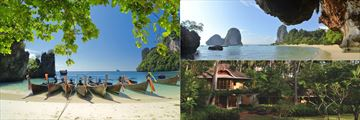 Beach Cove, Railay Beach & Rayavadee Villa, Krabi