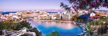 Lake of Agos Nikolaos. Crete, Greece