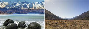 Lake Wanaka, Mount Aspiring, Moeraki Boulders & Haast Pass