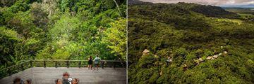 Beautiful aerial views of Lapa Rios Lodge