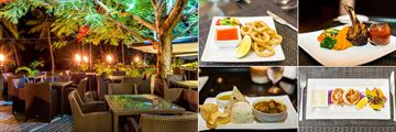 The Flame Tree Restaurant and Dining Options at Lomani Island Resort