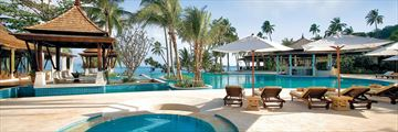Melati Beach Resort & Spa, Pool and Sun Loungers