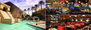 Pool, Centra Bar and Public House Bar at Luxor Hotel and Casino