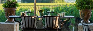 A luxurious terrace in a French vineyard