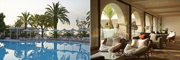 Main pool and lobby at MarBella Corfu