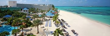 Resort and Beach View at Melia Nassau Beach All Inclusive