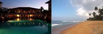 Mermaid Hotel & Club, Kalutara, Restaurant and Pool at Night and Beach