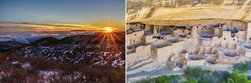 Cliff Palace & Sunset Sky, Mesa Verde National Park