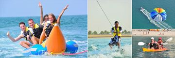 Miramar Al Aqah Beach Resort, Banana Boat, Wakeboarding, Parasailing and Kayaking