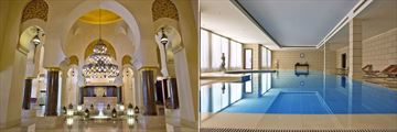 Miramar Al Aqah Beach Resort, Lobby and Indoor Pool