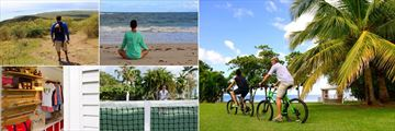 Montpelier Plantation Resort, Nevis, Hiking, Yoga on the Beach, Cycling and Beach Cabana, Tennis and Boutique Shop