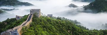 Morning mist over Teh Great Wall of China