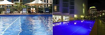 Novotel Brisbane, Pool and Pool at Night