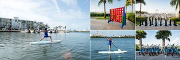 Oceans Edge Resort & Marina, Yoga, Giant Connect Four, Giant Chess, Cycling and Paddleboarding Activities