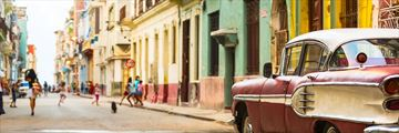 Old Car Havana Street Cuba