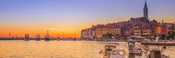 The Old Town and harbour in Rovinj, Croatia