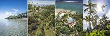 Outrigger Fiji Beach Resort, Aerial Views of Resort, Pool and Bures