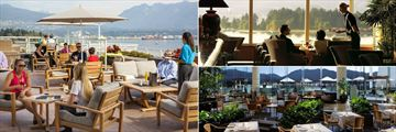 Pan Pacific, Patio Terrace Restaurant, Coal Harbour Bar and Oceans 999 Restaurant