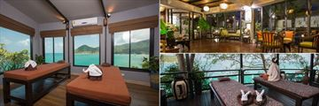 Panviman Resort Koh Phangan, Spa Couples Treatment Room, Spa Reception and Spa Couples Treatment Balcony