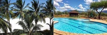 Papillon Beach and Ngutuni Lodge pool