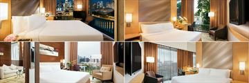 Clockwise from top left: Premier Room, Superior Room, Deluxe Room and Executive Room