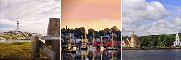 Peggy's Cove, Lunenburg Harbour & Mahone Bay
