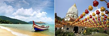 Penang beach & Kek Lok Si Temple in Georgetown