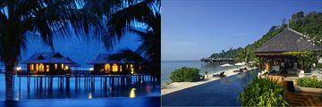 Pool views at Pangkor Laut Resort