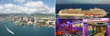 Honolulu Skyline & Pride of America Cruise Ship