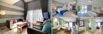 Protea Hotel Mossel Bay, (clockwise from left): Harbour Suite Living Area, Deluxe Guest Rooms