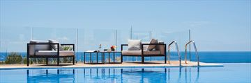 The infinity pool at Pure Salt Port Adriano