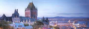 Quebec City at sunset