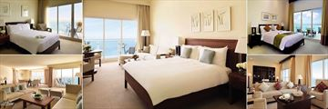 Radisson Blu Resort Fujairah, Guest Room Bedrooms and Suite Living Rooms