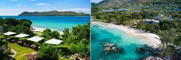 Raffles Seychelles, Aerial Views of the Resort