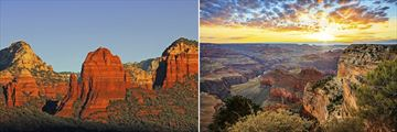 Red Rocks of Sedona & Landscapes of The Grand Canyon