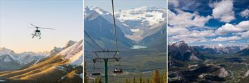 Rockies Helicopter Tour, Lake Louise scenery & View of Banff from Sulphur Mountain