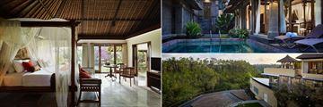 Kamandalu Resort & Spa, Ubad, (clockwise from left): Garden Villa, Pool Villa and Three Bedroom Pool Villa