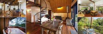 Treehouse Living Area's, Balcony Dining and Treehouse Spa Pool at Rose Gums Wilderness Retreat