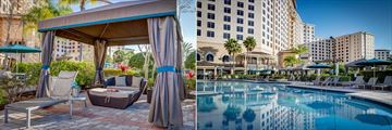 Cabana and One of Four Pools at Rosen Shingle Creek