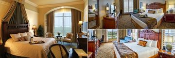 Presidential King Bedroom, King Guest Room and Petitie Suite Bedroom at Rosen Shingle Creek
