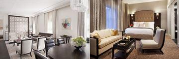 Rosewood Hotel Georgia, Rosewood Suite Living Room and Bedroom